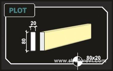 Plot Söve 8cm x 2cm Söve Profili